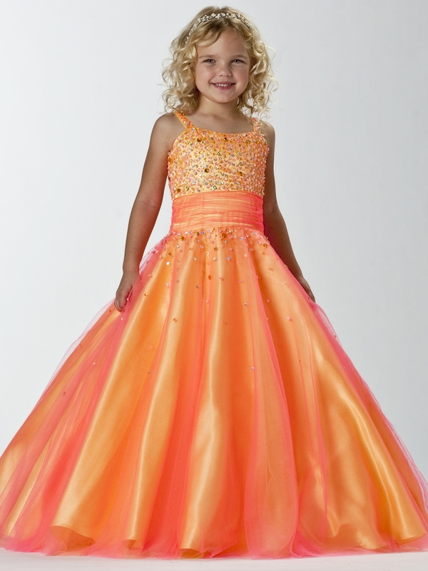 Orange/Yellow Pageant Dress by Tiffany Princess Pageant 13243 ...