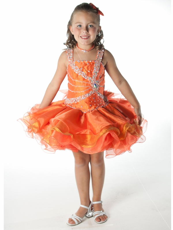 Tangerine Short Unique Fashion Pageant Dress Uf1023 Pageantdesignscom
