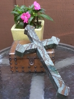Soapstone Wall Cross With Copper Color