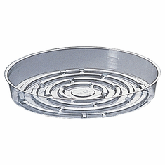 "10"" Round Clear Plastic <br>Saucers - 50/Pkg"
