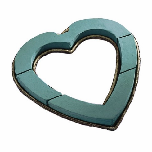 "12"" Mache Open Heart<br>OASIS Floral Foam <br>2/Package"