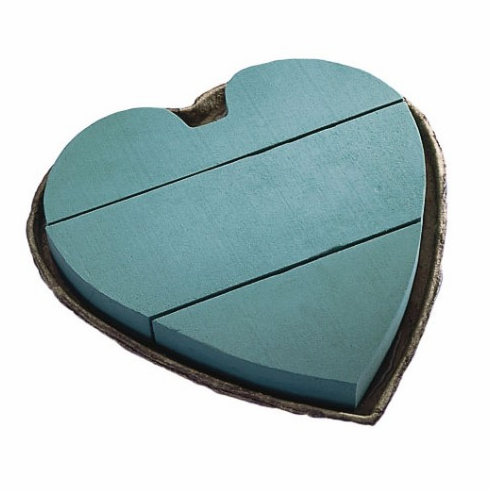 "12"" Mache Solid Heart <br>OASIS Floral Foam <br>2/Package"