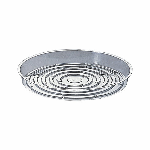 "12"" Round Clear Plastic <br>Saucers - 25/Pkg"