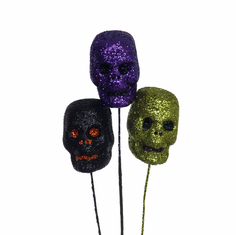 "2/25"" Glitter Skull Pick <br>2/Package"