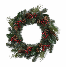 "20"" Pine/Fern/Cone <br>Wreath"