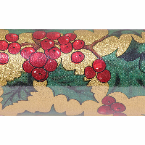 "20"" x 30' Poly Foil <br>Christmas Holly"
