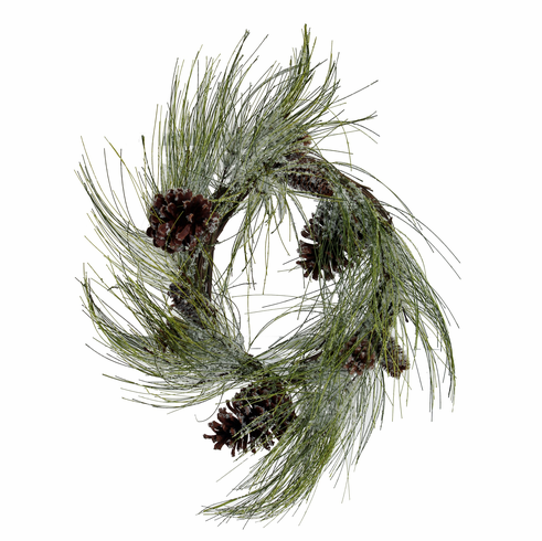 "22"" Iced Pine/Cone <br>Wreath"