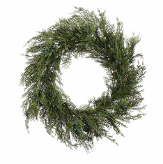 "24"" Cedar/Blue Berry <br>Wreath"