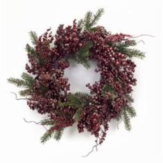 "24"" Metallic Berry/Pine <br>Wreath"