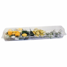 "25"" Clear Plastic <br>Rose Boxes <br>25"" x 5"" x 4"""