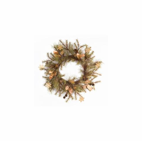 "30"" Pine Wreath <br>w/Bells & Snowflakes"