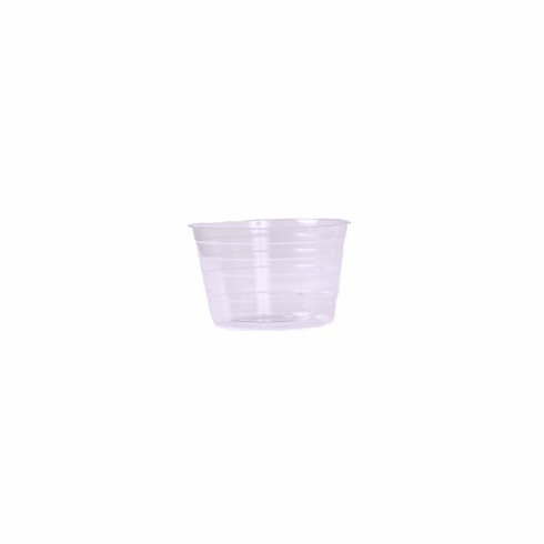 "4"" Round Clear Plastic <br>Liners - 25/Pkg"