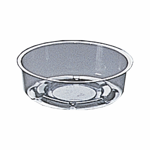 "4"" Round Clear Plastic <br>Saucers - 50/Pkg"
