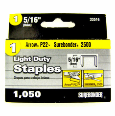 "5/16"" Staples <br>for 2500 Stapler <br>1,050/Box"