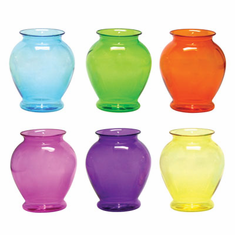 "5"" Ginger Vase <br>Fiesta Assortment <br>PLASTIC <br>24/Case"