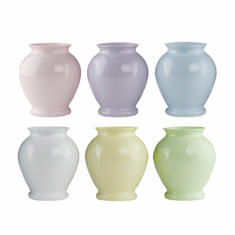 "5"" Ginger Vase <br>Seaside Pastel<br>Assortment - PLASTIC <br>24/Case"