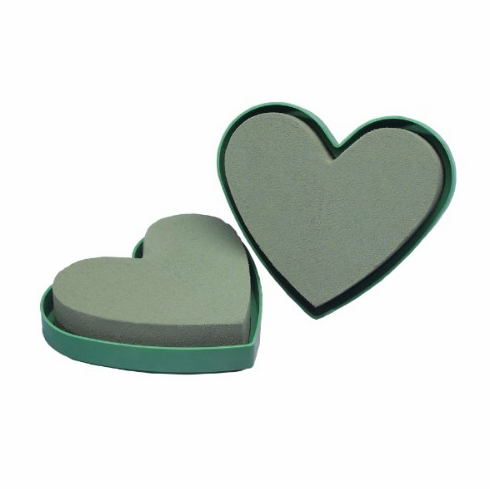 "5"" Mini Hearts <br>OASIS Floral Foam <br>2/Package"