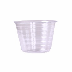 "5"" Round Clear Plastic <br>Liners - 25/Pkg"