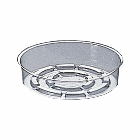 "5"" Round Clear Plastic <br>Saucers - 50/Pkg"