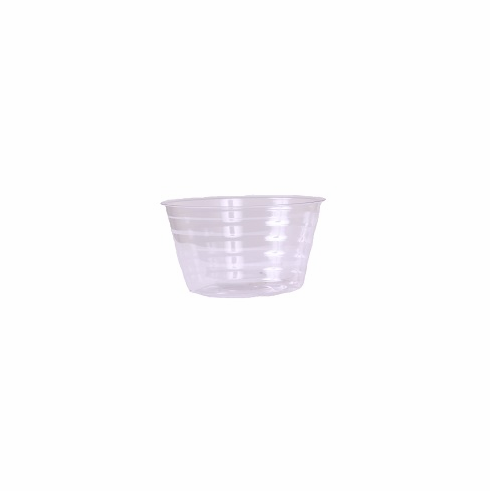 "6"" Round Clear Plastic <br>Liners - 25/Pkg"