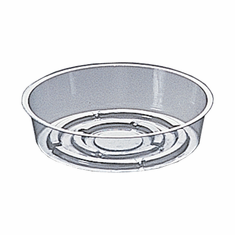 "6"" Round Clear Plastic <br>Saucers - 50/Pkg"