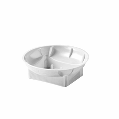 "6"" Single Design Bowls <br>White - 48/Case"