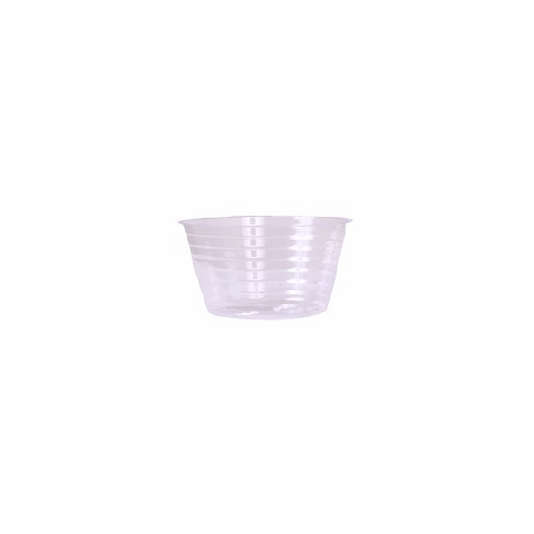 "7"" Round Clear Plastic <br>Liners - 25/Pkg"