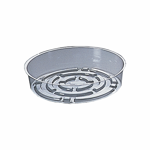 "7"" Round Clear Plastic <br>Saucers - 50/Pkg"