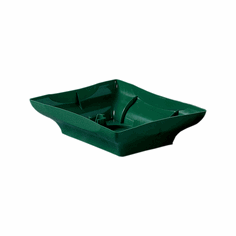 "8"" Centerpiece<br>Design Trays <br>Green - 48/Case"