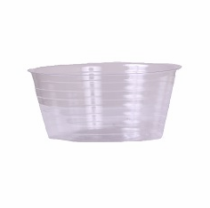 "8"" Round Clear Plastic <br>Liners - 25/Pkg"