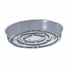 "8"" Round Clear Plastic <br>Saucers - 50/Pkg"