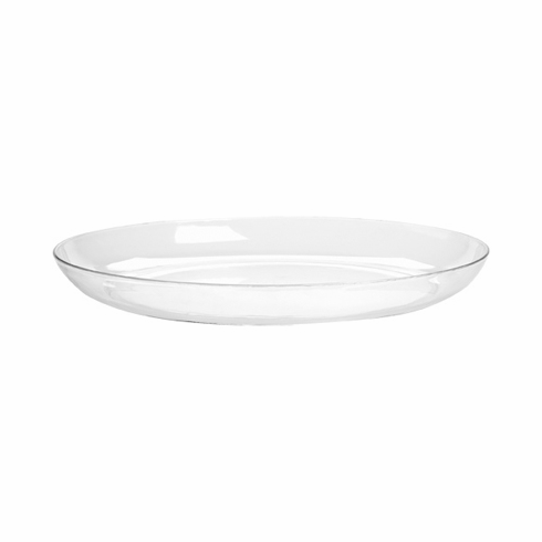 "9"" Clear Designer Dishes <br>24/Case"