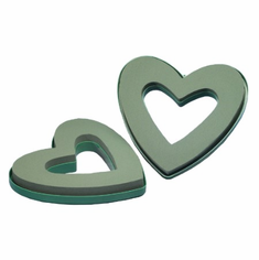 "9"" Small Open Hearts <br>OASIS Floral Foam <br>2/Package"