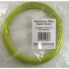 Aluminum Wire <br>12 gauge x 39 ft. <br>Apple Green