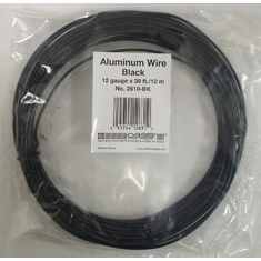 Aluminum Wire <br>12 gauge x 39 ft. <br>Black