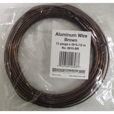Aluminum Wire <br>12 gauge x 39 ft. <br>Brown