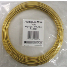 Aluminum Wire <br>12 gauge x 39 ft. <br>Gold