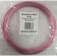 Aluminum Wire <br>12 gauge x 39 ft. <br>Pink