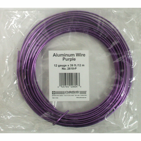 Aluminum Wire <br>12 gauge x 39 ft. <br>Purple
