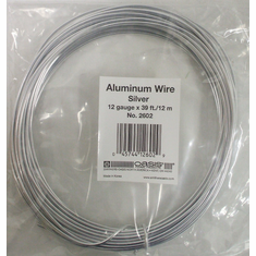 Aluminum Wire <br>12 gauge x 39 ft. <br>Silver