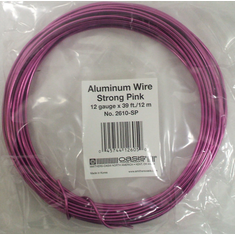 Aluminum Wire <br>12 gauge x 39 ft. <br>Strong Pink