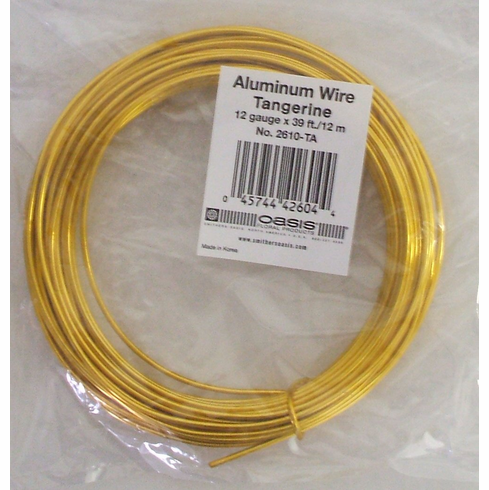 Aluminum Wire <br>12 gauge x 39 ft. <br>Tangerine