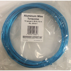 Aluminum Wire <br>12 gauge x 39 ft. <br>Turquoise