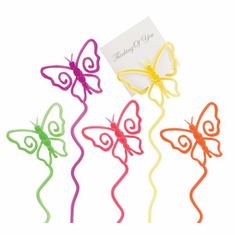 Butterfly Picks<br>Assorted Colors<br>24/Package