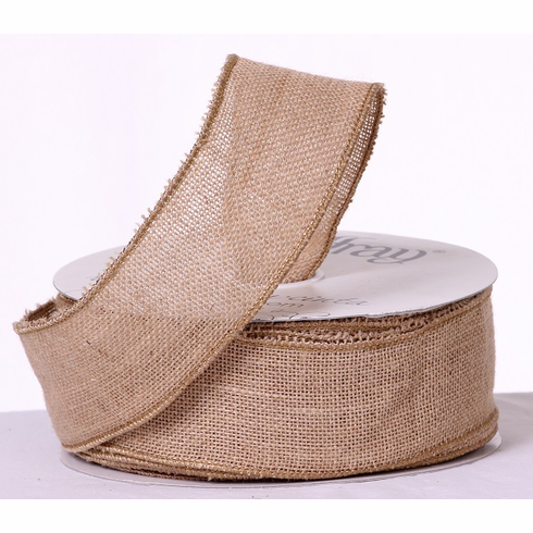 Burlap Ribbon - Natural <br>25 Yards