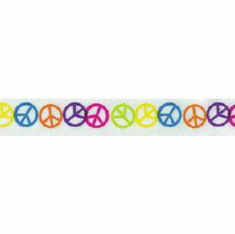"Curling Ribbon <br>Peace Signs <br>3/8"" x 250 yards"