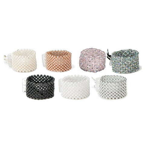 Fitz Design <br>Beaded Flower Bracelet <br>Assorted Colors