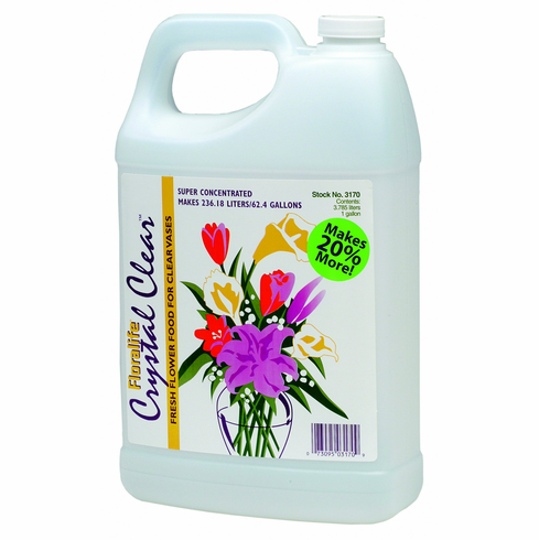 Floralife Crystal <br>Clear Flower Food <br>1 Gallon