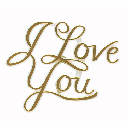 I Love You Picks<br>Gold and Silver <br>12/Package