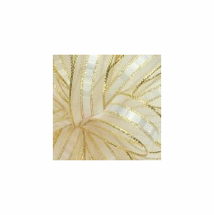 "Ilissa Ribbon <br>5/8"" x 25 Yards <br>White/Gold"